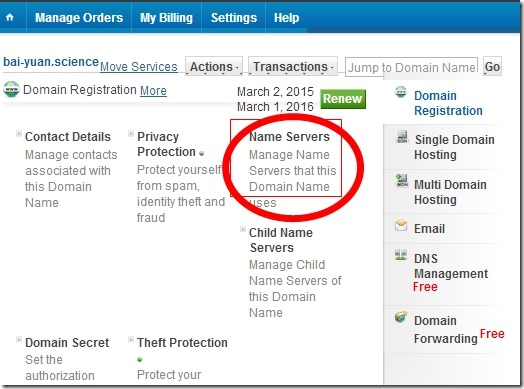 How to apply for a free. Science domain name