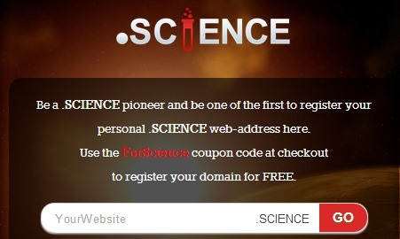 怎样免费申请.Science(科学)域名