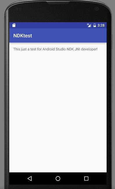 第一个android studio+NDK程序