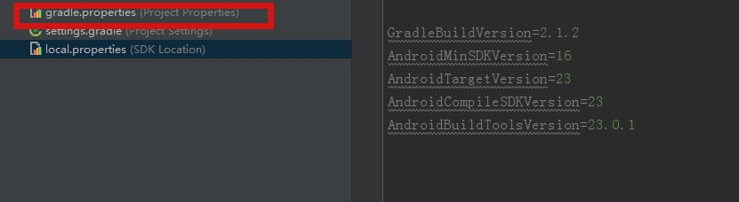 Gradle using configuration files to control the version of build tools